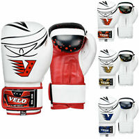 VELO Boxing Gloves Bag Training Mitts Sparring Punch Muay Thai Fight Kickboxing