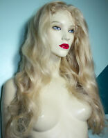 REAL Human Hair Front Lace Wig Wigs Remi Remy Indian Light Blonde Premium