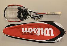 Wilson ncode K Tour red white & black Squash Racquet MINT!!!