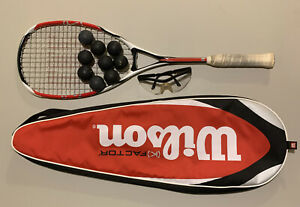 Wilson ncode K Tour red white & black Squash Racquet MINT!!!