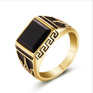 Titanium steel Masonic Ring Classic Master Mason Freemason jewelry gold 12 size