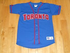 Vintage 90s Russell Athletic TORONTO BLUE JAYS Youth MLB Baseball Team JERSEY Md