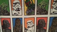 Star Wars brand Sheets Twin Size 1 Flat  2 fitted pictorial matching soft YODA