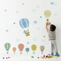 Air Baloon Wall Decor Sticker Kids Nursery Room Home Decal Clouds Cartoon Supply