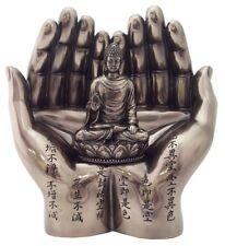 In Buddha's Hands Bronze Resin Statue Figure Sakyamuni Buddha in Two Hands #1846