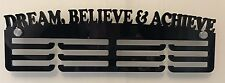 5mm Thick Acrylic 3 Tier DREAM BELIEVE & ACHIEVE Medal Hanger / Holder/ Rack
