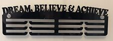 Acrylic 3 Tier DREAM BELIEVE & ACHIEVE Medal Hanger / Holder/Rack With Standoffs