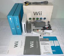 Nintendo Wii White Console System w/ Original Box and Accessories