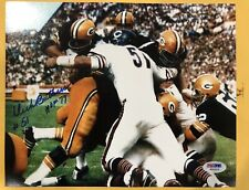 Signed Autographed Dick Butkus 8x10 Photo with PSA/DNA COA Chicago Bears