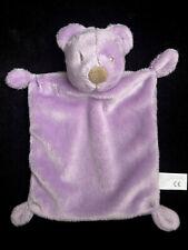 Doudou plat Ours mauve parme violet nez marron Nicotoy Simba Toys 25 cm