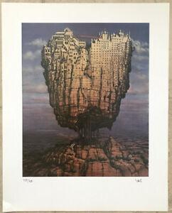 'Europe' signed/numbered surreal/fantasy art print by Jacek Yerka (discount)