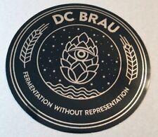 DC BRAU Circle Foil Logo STICKER  craft beer