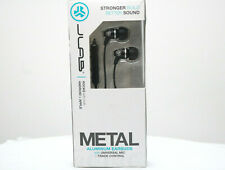 JLab Metal Aluminum Earbuds with Universal Mic and Track Control - Black