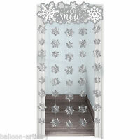 1.9m Christmas Frozen Snowflake Let It Snow Door Doorway Curtain Decoration