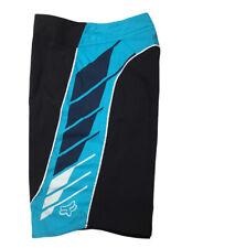 New listing Men's Fox Head Racing Board Shorts Size 30 Black Aqua Surf Swim