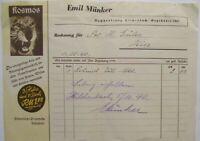 Bookstore Emil Münker IN Hilchenbach At Siegen Invoice 1940 (32682)