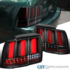 For 99-04 Ford Mustang Red LED Bars Sequential Turn Signal Tail Lights GT/SVT