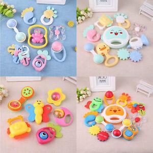 Infant Baby Children Handbell Musical Learning Toddler Shaking Bell Rattles Toy