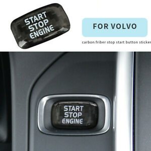 Carbon Engine Start Stop Button Sticker cap For Volvo V40 V60 S60L S60 XC60 S80L