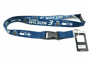 SEAHAWKS RUSSELL WILSON NFL Official Licensed Football Player Action Lanyard