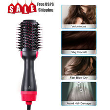 6in1 Hot Air Hair Negative Ion Straighten Curl Styling Dryer Comb Blower Brush