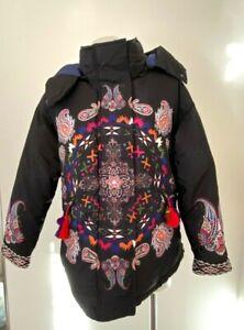 DESIGUAL black padded jacket coat - size 40, AU 10 - $399 NEW!