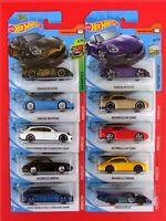 Hot Wheels 2020 10 Stück Porsche CARRERA, 911 GT3 RS, 944 Turbo, 918 SPYDER ua