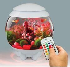 BIORB HALO 15L WHITE MCR COLOUR REMOTE LED AQUARIUM BOWL FISH TANK COLDWATER