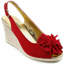 Hotter Wedge Floral Sandals for Women