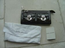 "Genuine Marc Jacobs Patent Brown Purse Bag 7.75"" x 4.25"" x 0.25"" (Ref O) Ex Con"