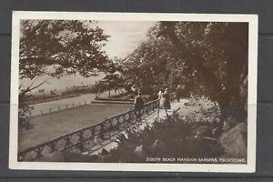 Vintage RP postcard South Beach Mansion Gardens, Felixstowe, animated. pmk 1929