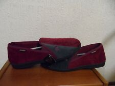 DUNLOP REALITY COLLECTION  LADIES RED SLIPPERS SIZE UK 13  /  EUR 48