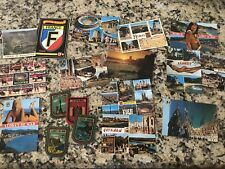 Lot of 14 Vintage Postcards Unposted - Spain, France, Italy + Felt Patches