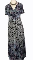 M&S PER UNA Colourfull Long Floaty Maxi Dress Fully Lined Size 12