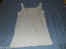 Monsoon 10 light blue cotton top summer holiday vest top free uk postage