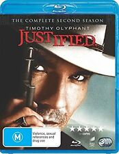 Justified Complete Series 2 Blu Ray All Episodes Second Season Original UK Rele