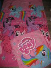 2tlg Bettwäsche My little Pony warm Flanell Kopfkissen Decke kuschelig bunt