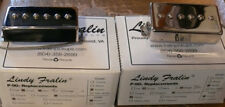 New Pair Lindy Fralin P-90 In Humbucker Cover - nickel covers. -5% neck wind