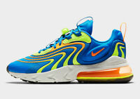 Nike Men's Air Max 270 React ENG Shoes NEW AUTHENTIC Soar/Orange/Volt CD0113-401