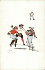 Girls Young Women Boxing - Jack Number c1910 Postcard
