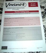 Vineland-II Teacher Rating Form / Record Booklet
