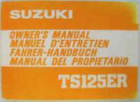 Suzuki TS125ER 1980 #99011-48522-01M Motorcycle Owners Handbook