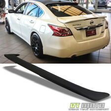 2013-2015 Altima 4Dr Sedan Rear Trunk Spoiler Wing LED Brake Light Matt Black