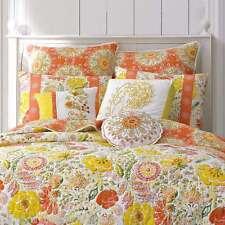 5-Pc Dena Nostalgia Meadow Girl's Twin Quilt Set Pillows Bright Summer Floral