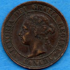 Canada 1896 1 Cent One Large Cent Coin - EF