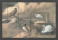 """Moldova 2003 Birds """"The Red Book of Moldova"""" 4 MNH stamps"""