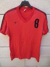 Maillot ADIDAS vintage porté n°8 rouge nylon trikot shirt jersey VENTEX maglia M