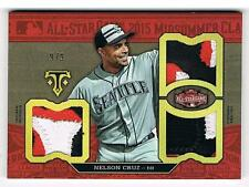 NELSON CRUZ 9/9 TOPPS TRIPLE THREADS 3X ALL STAR PATCHES SEATTLE MARINERS - NICE
