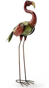 Artisian Made Galapagos Flamingo Metal Sculpture