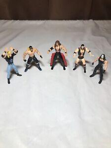 "Lot of 5 Steel Slammers 3"" Die Cast Wrestling Action Figure WCW NWO 1998 Toy Biz"